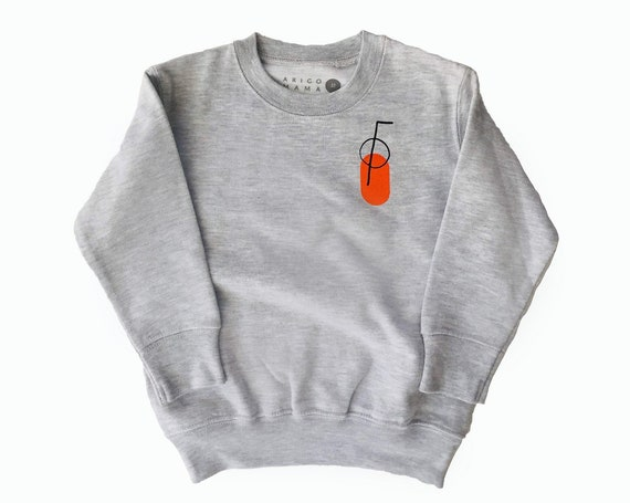 ORANGE JUICE - Long Sleeve Sweat Shirt - Gray