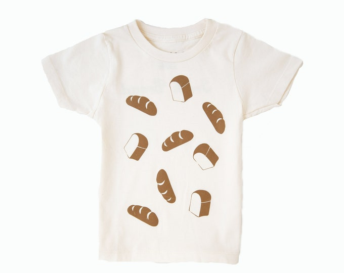 FRESH BREAD Toddler Tee - Cream