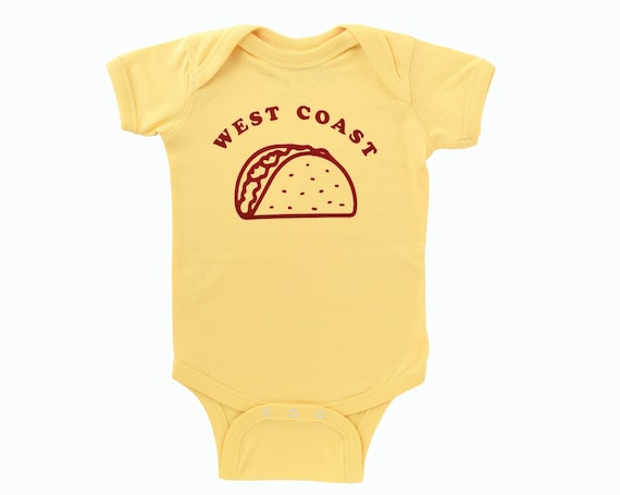 WEST COAST TACO Baby Bodysuit - Yellow