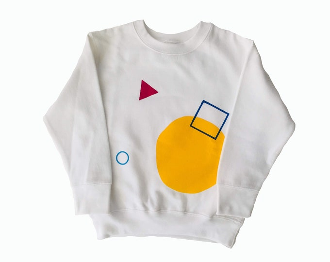 SHAPES - Long Sleeve Sweat Shirt - White