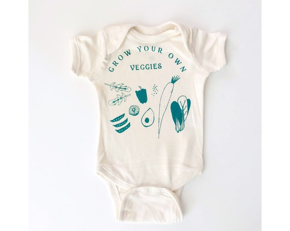 VEGGIES Baby Bodysuit - Cream