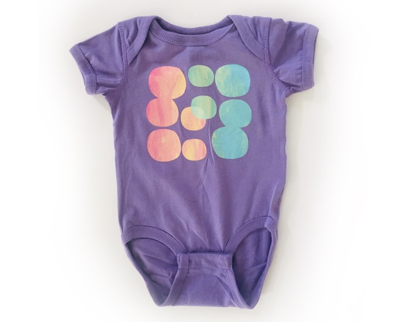 MARBLE DROPS Baby Bodysuit - Purple