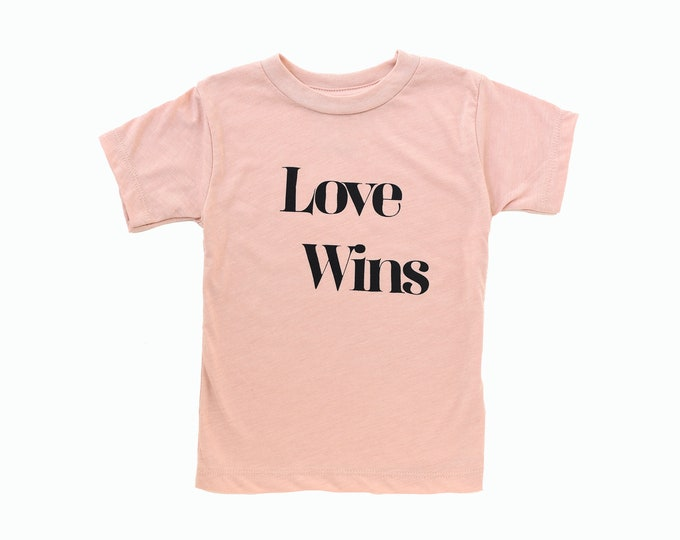 Love Wins Toddler Tee - Pink