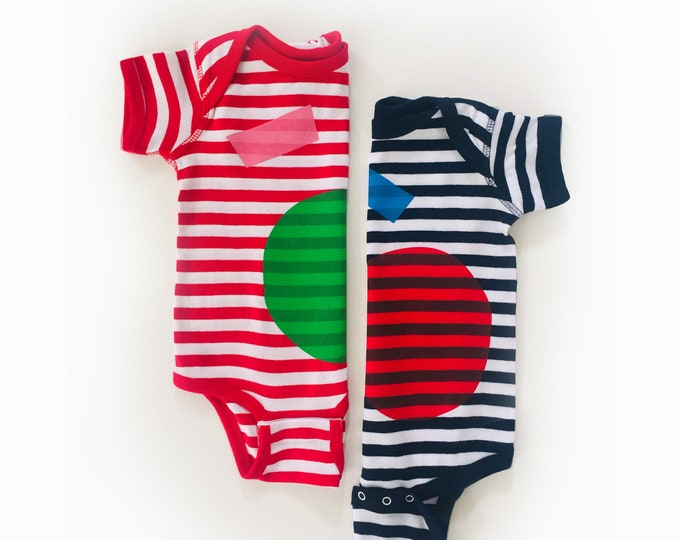 COLORS x STRIPES Baby Bodysuit
