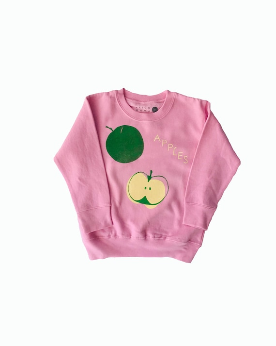 APPLES - Long Sleeve Sweat Shirt - Pink