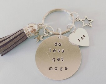 personalised keyring, birthday gift, grandparents, gift, mothers day, handstamped, handmade, keychain, any message, personalized, uk, charm