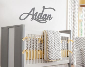 Personalized Wooden Name Sign Wall Hanging Painted Letters for Nursery Custom Name Plaque Cut Out  Personalized Name Wooden Wall Art