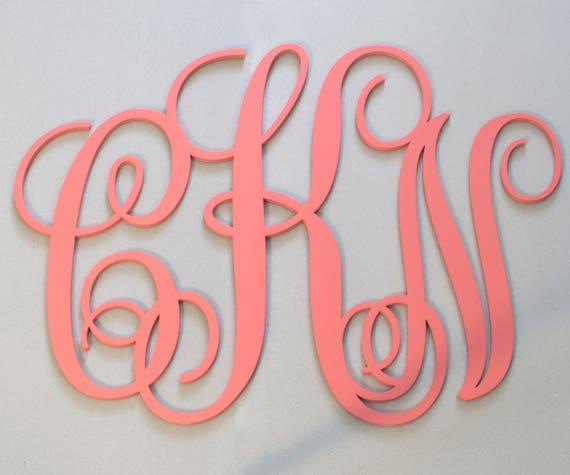 Custom monogram wall decor Personalized wedding art Ampersand   Etsy