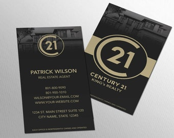 Real estate business cards etsy century 21 business card real estate business card design realtor business card brokerage business card custom design colourmoves