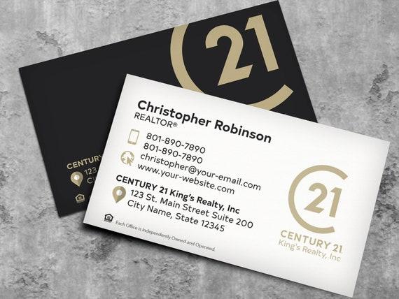 Jahrhundert 21 Visitenkarten Design Individuelles Design