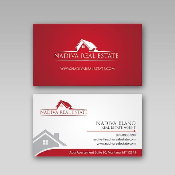 Immobilien Visitenkarte Design Immobilien Marketing Immobilien Marke Visitenkarte Druck Kundenspezifische Visitenkarte
