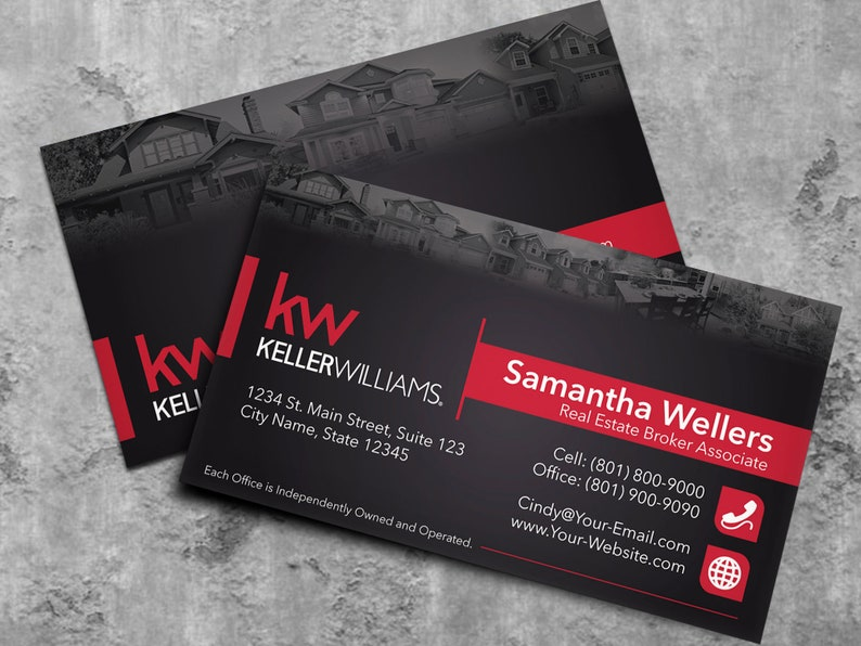 Keller Williams Agent Immobilier Carte De Visite