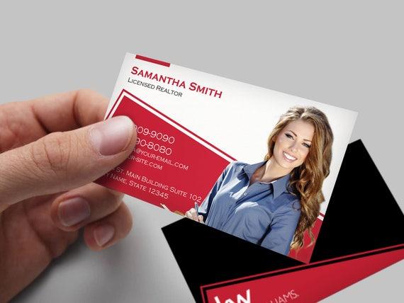 Keller Williams Visitenkarte Immobilien Visitenkarten Design Makler Visitenkarte Brokerage Business Card Individuelles Design
