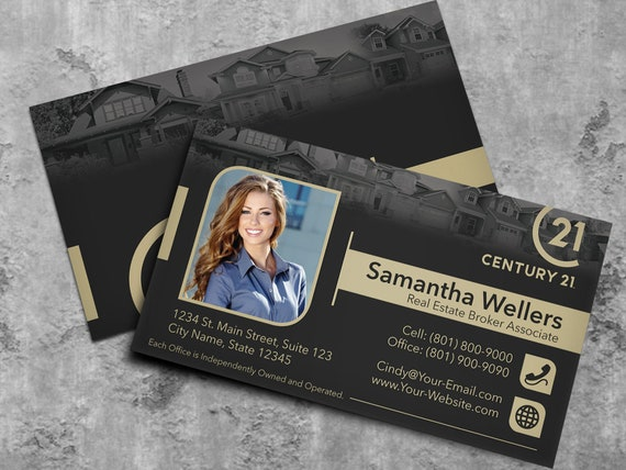 Century 21 Business Card Real Estate Business Card Design Etsy