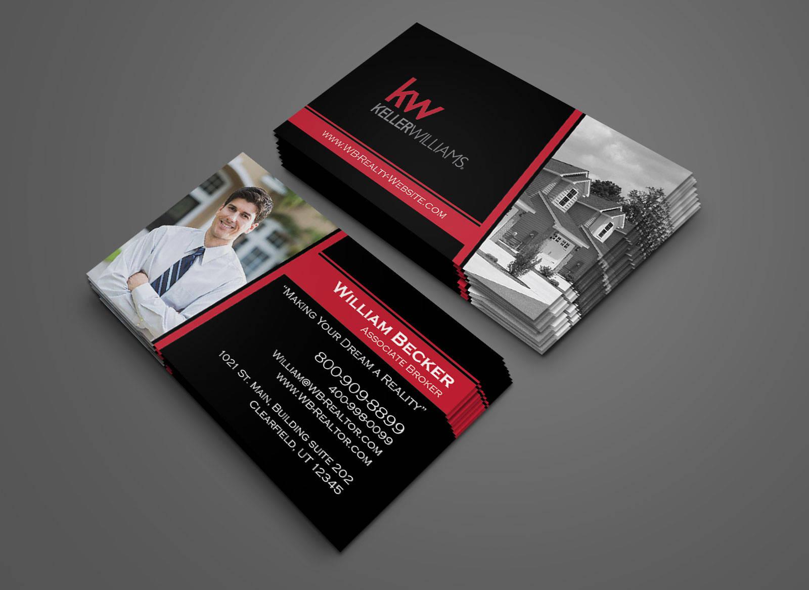 Keller Williams Business Card Design - Century21 - Coldwell Banker - Real  Estate - Custom Design For Coldwell Banker Business Card Template