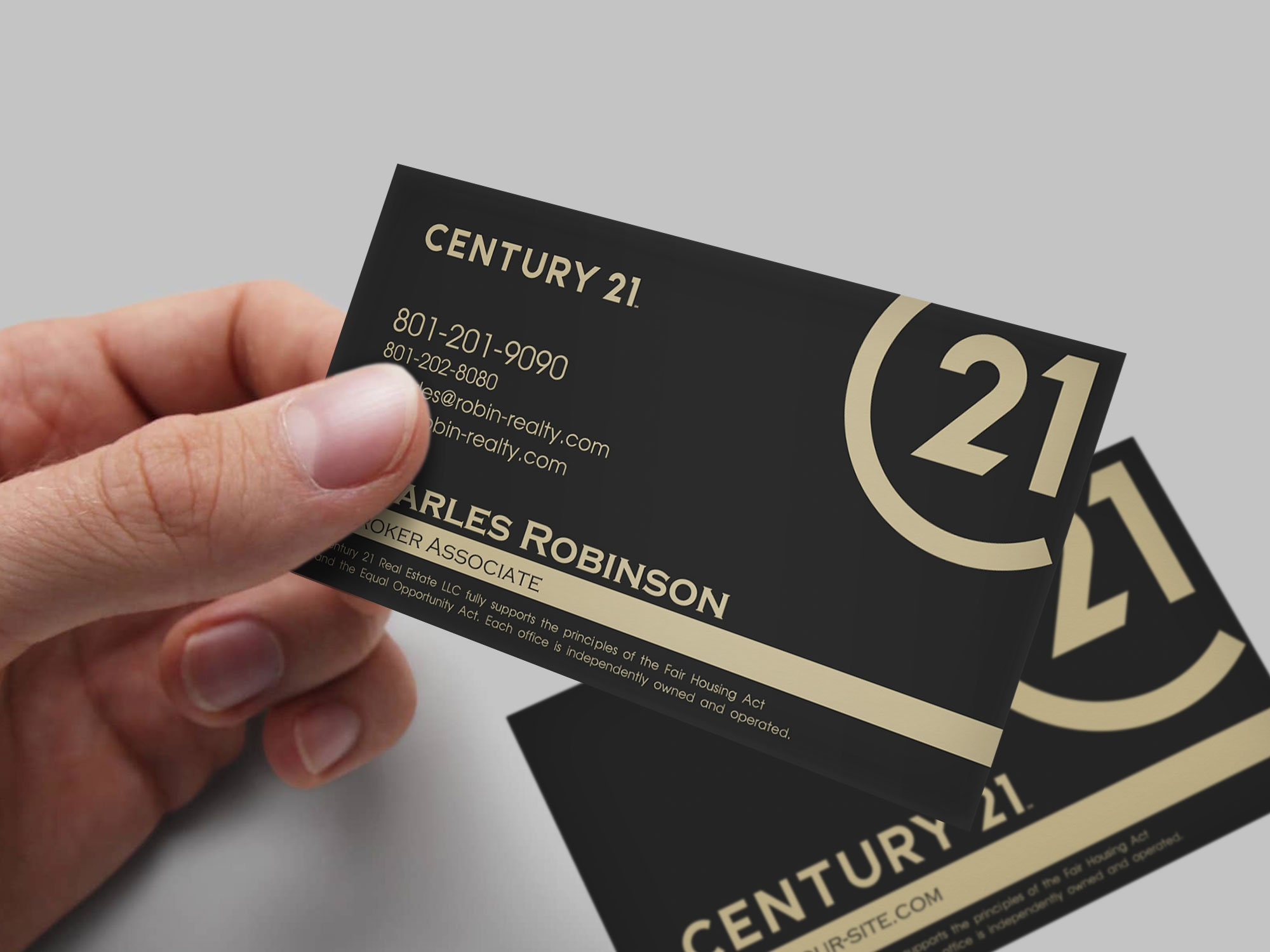 century 21 new rebrand business card custom design etsy