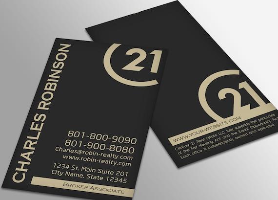 Jahrhundert 21 Visitenkarte Immobilien Visitenkarten Design Makler Visitenkarte Brokerage Business Card Individuelles Design