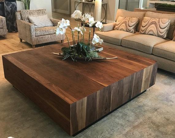 Walnut Coffee Table, Modern Rustic Table, Dark, Black Walnut, Midcentury, Custom, Eclectic
