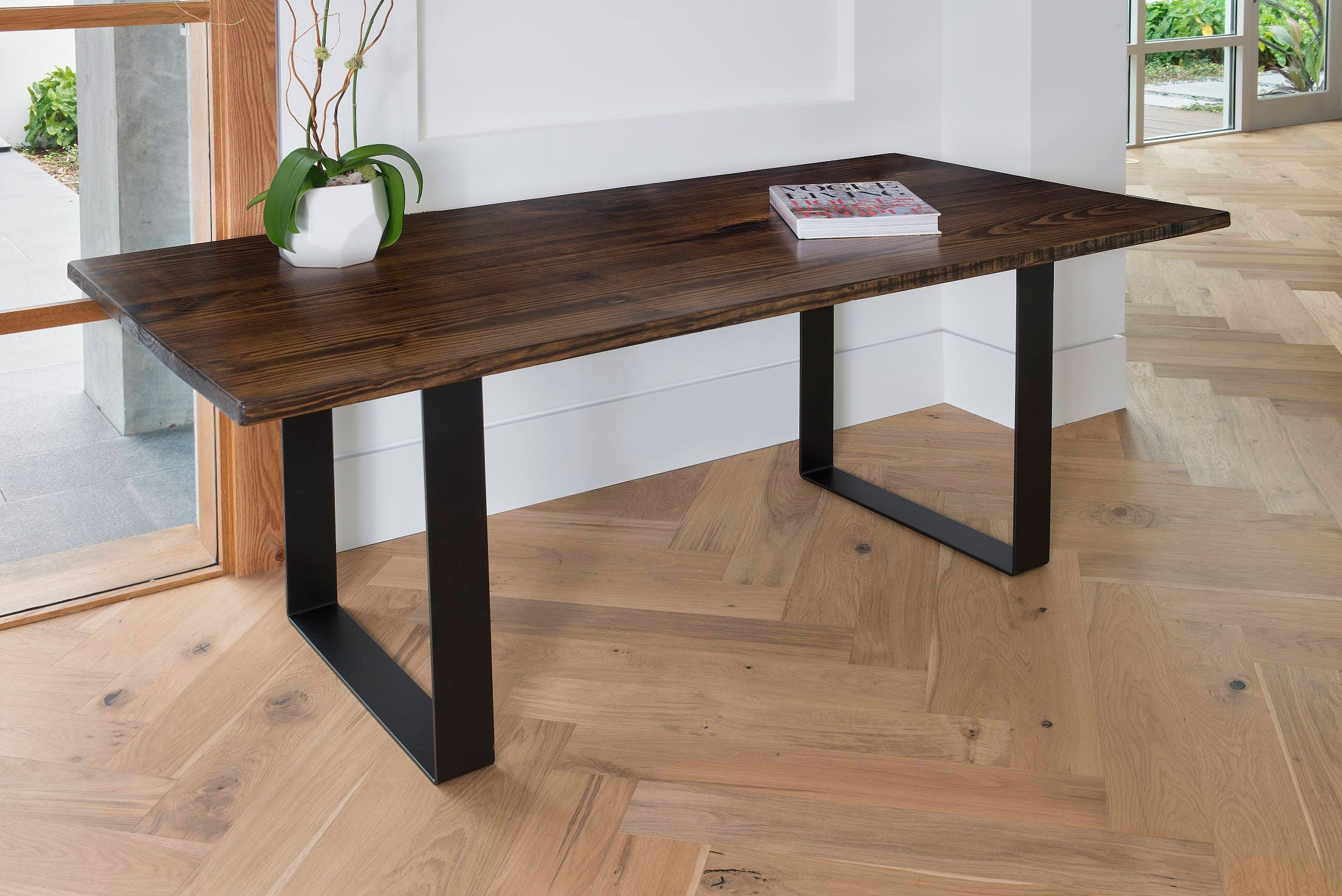 Sale dining table kitchen table dining u legs dark walnut cafe dining table kitchen table dining u legs dark walnut cafe table bistro restaurant table steel legs dinette walnut watchthetrailerfo