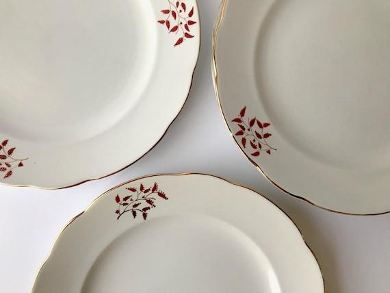 4 piatti da dolce vintage ceramiche galvani anni 30 etsy