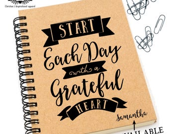 Grateful heart Prayer journal, Prayer notepad, bible verse journal, personalised prayer journal, inspirational notepad