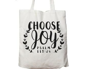 Choose Joy bag, Choose joy purse, today I choose joy, Choose Joy tote bag, bible verse tote bag, quote bag, reusable bg, personalised canvas