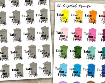 Take Out The Trash Planner Stickers (25 Stickers)