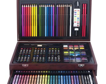 Art Pencils Box, Art Supply Storage, Crayons Set, Art Pencil Box, ART101