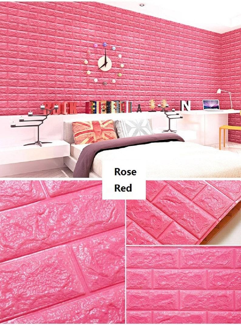 Wall Mural Wall Foam Decal Wall Foam Sticker Wall Brick Decal Room Decor Wall Decor 3D Sticker Wall Brick Sticker Foam bricks Decor
