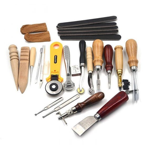Leather Tools Leather Working Tools Leather Craft Tools Etsy