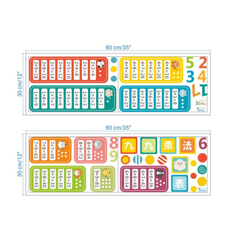Murals Math Decal Kids Room Multiplication Table Math Kids Mural Multiplication Table Mural Kids Room Decor Wall Stickers Decals