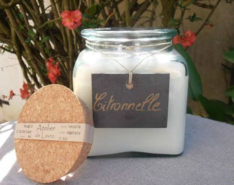 LEMONGRASS 0.5 l exterior candle, recycled glass