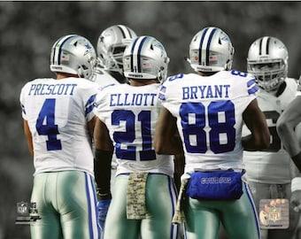 Dak Prescott Ezekiel Elliott Dez Bryant Dallas Cowboys Spotlight 8X10 Photo f4ec98d44