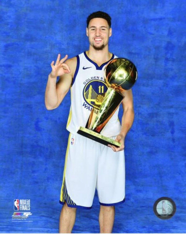 promo code 90033 4462e Klay Thompson 2018 Golden State Warriors NBA Champions Finals Trophy 8x10  Photo