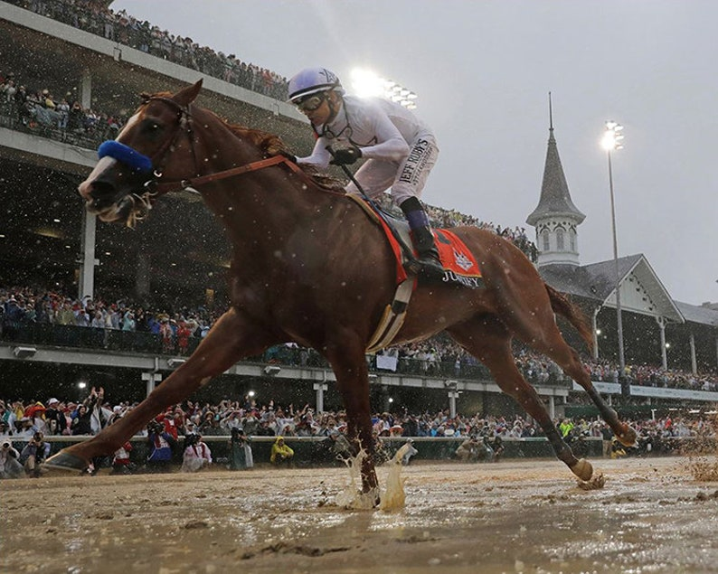 cf1c7a94c97 Justify 2018 Kentucky Derby Winner Mike Smith Up Horse Racing