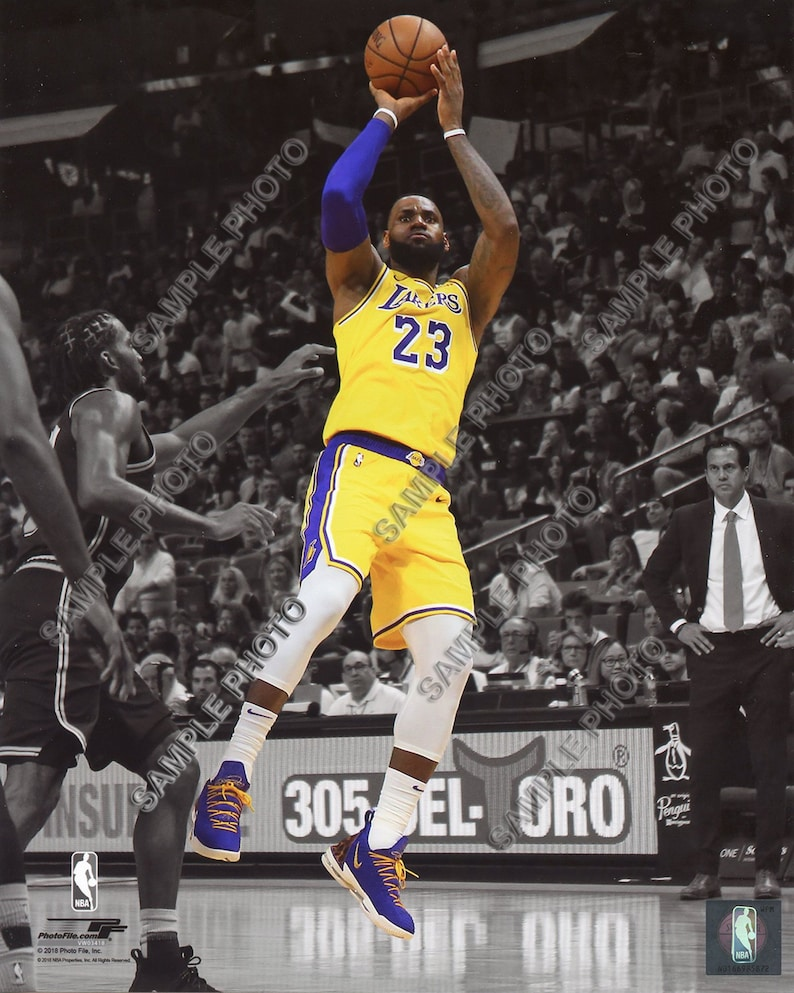 b377522afa613 Lebron James 2018 LA Los Angeles Lakers Official Authentic Spotlight 8x10  Photo