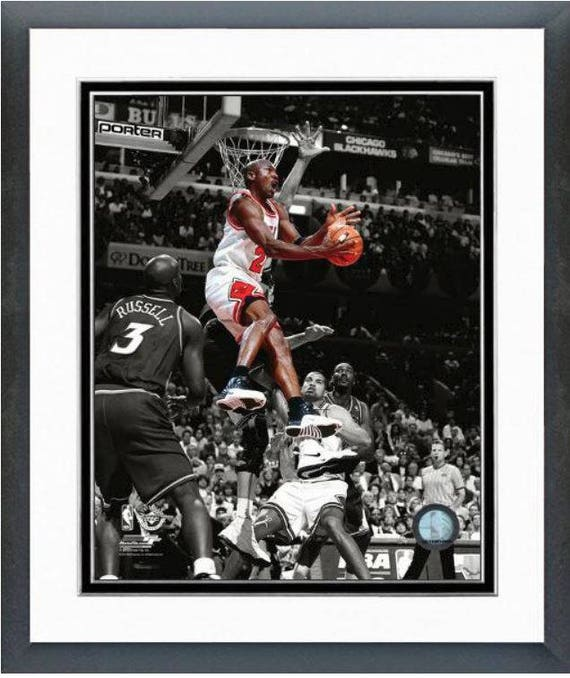 55c5cf05ee830 Michael Jordan 1997-98 Chicago Bulls Spotlight Action 8x10 Photo Double  Matted and Framed (Size: 12.5