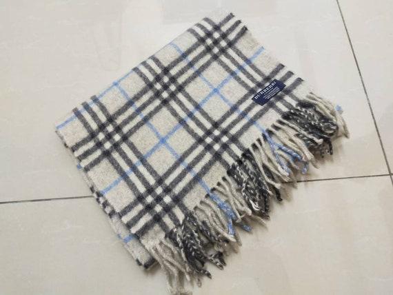 burberrys london checked scarf muffler gray nova c