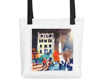 Nignt Rome Italy Tote Bag Groccery Bag