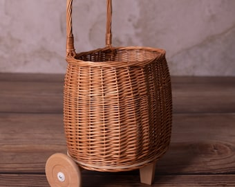 Wicker Carriage For Toys