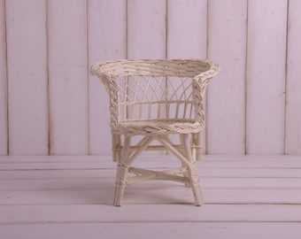 Wicker Baby Chair, Willow Seat Photography Props, Toddler and Newborn Baby Photographer, Nursery Room Furniture, Natural Decoration