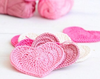 Crochet PATTERN Heart Garland, Bunting, kids handmade Craft Decoration tutorial, Home Decor, Nursery Room, INSTANT DOWNLOAD