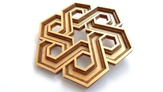 C33-octahedron Scroll saw pattern pdf, dxf, svg, eps