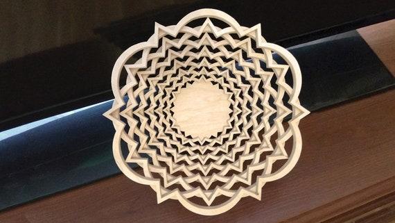 pdf, jpg, dxf, svg, eps Scroll saw pattern C78-bowl