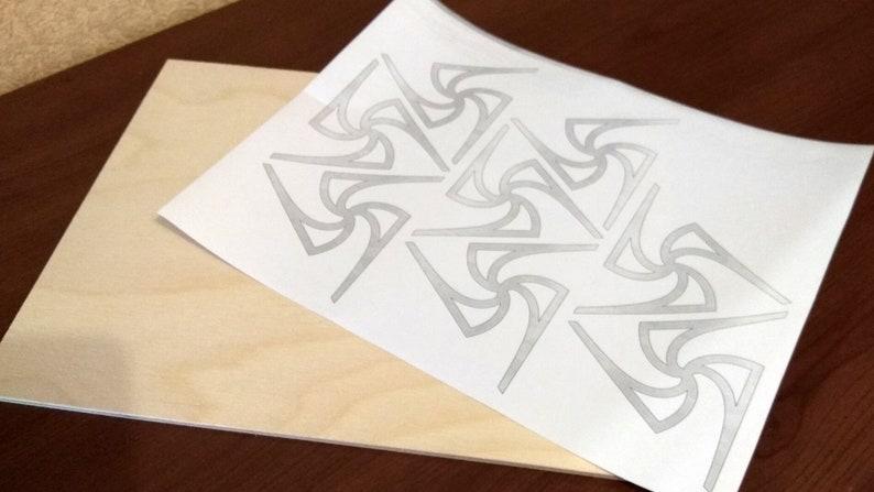 pdf, dxf, svg, eps C33-octahedron Scroll saw pattern
