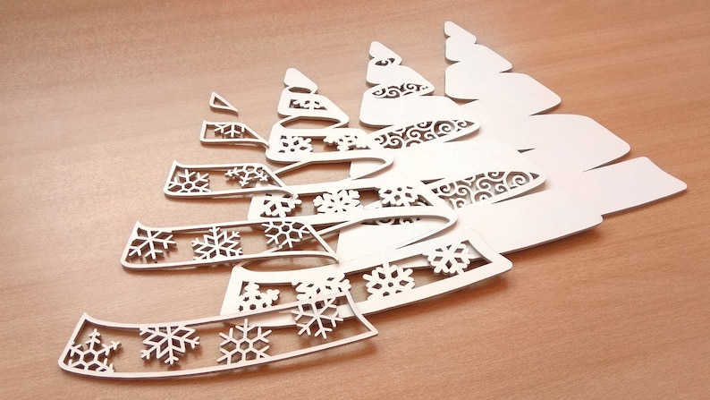 C86 Christmas Tree Scroll Saw Pattern Pdf Dxf Svg Eps