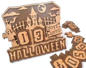 C178-Halloween calendar - Scroll saw pattern (pdf, dxf, svg, eps)