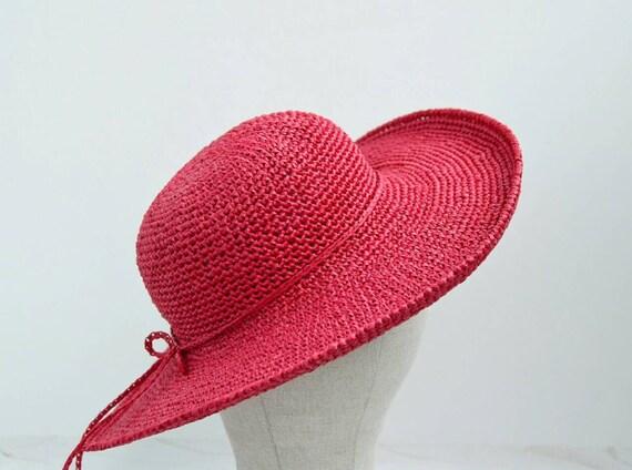 Red beach hat summer hats wide brim hat floppy hat wide  b2c5490340e