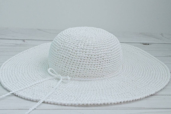 192a6a7b205 White beach hat wide brim hat floppy hat wide brim straw | Etsy