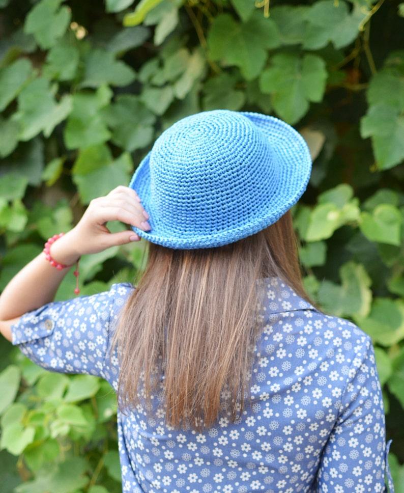 9a5175f9928 Crochet Summer Hat Straw Hat Handmade Straw Hat Raphia Hat